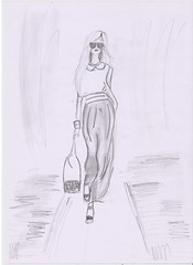 casual chic (Irina Bolohan) Tags: paris france cute beautiful fashion dress drawing chic runaway ira bolohan