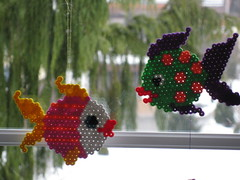 Fische (petuniad) Tags: beads hama perler prlplattor hamabeads perlerbeads strijkkralen bgelperlen buegelperlen