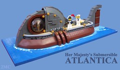 Her Majesty's Submersible Atlantica (2 Much Caffeine) Tags: lego submarine nautilus steampunk 20000leaguesunderthesea submersible