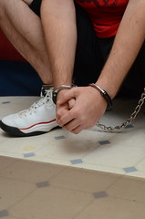 DSC_9265 (jakewolf21) Tags: basketball air bondage sneakers nike chain pippen legirons