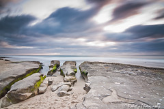 Moving Clouds | La Jolla Coves | San Diego (Rohitsphotography) Tags: ocean california longexposure blue sunset cloud green beach water rock evening moss pacific sandiego sony lajolla coves leegndfilter alpha700 tokina1116