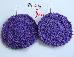 "Crochet Earrings • <a style=""font-size:0.8em;"" href=""http://www.flickr.com/photos/66263733@N06/6913859823/"" target=""_blank"">View on Flickr</a>"