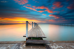 Easter Sunrise (Bruce_Hood) Tags: ocean longexposure bridge seascape water pool clouds sunrise australia newsouthwales northnarrabeen