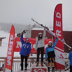 Rossland Miele Cup, 25.02.2012 - SL top  3 overall women