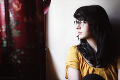 Gabi (Molly Castle) Tags: portrait house girl glasses daylight naturallight oldhouse blackhair mollycastle