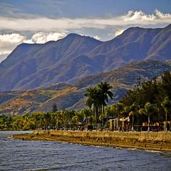 Sacred mountains above Ajijic (uteart) Tags: mountains square mexico malecon ajijic lakepromenade lagodechapala utehagen uteart sacredmountainsaboveajijic chupanayas