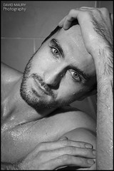 Fergus Kealy (David Maury) Tags: irish male wet face shower model handsome davidmauryphotography ferguskealy