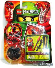 An original box image of the 9566 Samurai X (WhiteFang (Eurobricks)) Tags: red cards lego ninja samurai blade katana spinners eurobricks ninjago