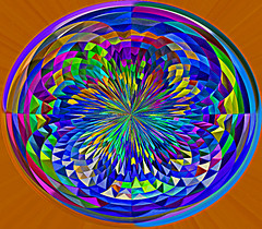 Colorburst Oval (Flight Of Littlewing) Tags: blue abstract color brightcolor hotcolors colorsandcolors colorartaward colorsoftheheart artandsoul4you