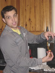 step 1 - toby pouring the tequila shot