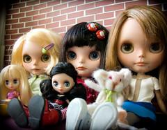 My Blythe family. RBL, FBL, SBL