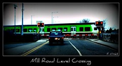 Mill Road Level Crossing (finnyus) Tags: ireland irish green train diesel cork rail railway trains eastcork railcar commuter railways munster 2012 dmu 2610 2613 multipleunit 2car 2600class finbarroneill