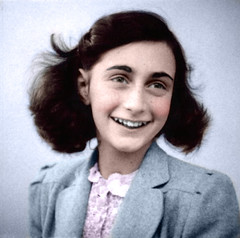 Anne Frank In Color (LikesT0FightGuy) Tags: world 2 camp two portrait color colour girl marie female germany frank anne concentration photo war w nazi nazis hitler ss picture german jew colored jews adolf juden gestapo germans annelies aushwitz