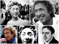 Gene Wilder and sister (Kay Harpa) Tags: sculpture paris france genewilder sosie cimetiredepassy kayofkollage photokay idedejohnmartine genewilderhasanancesterinfrance
