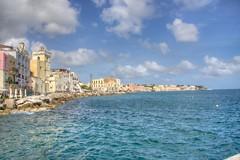 Ischia Ponte (Jacopo Reggiani) Tags: sea panorama sun water landscape island mare campania sole acqua ischia hdr isola tonemapped