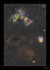 IC443 and NGC 2175 panorama (J-P Metsavainio) Tags: stars nebula astronomy gemini nebulae snr ic443 supernovaremnant spacecosmos starnebulaestarsstarfieldnebulaspaceemissionastronomydiffusecolorfulsharplessgeminingc2175ic443