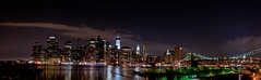 Brooklyn NYC skyline Panorama 1 (KayOne73) Tags: new york city nyc urban skyline brooklyn night lens nikon zoom manhattan f promenade photomerge 28 mm nikkor afs photostitch 2470 automerge d700