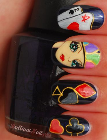 "Nail Art ""Poker Face"""