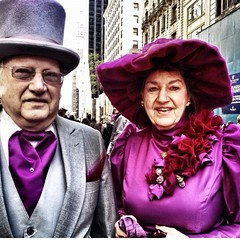 Easter Sunday !!! (Graceiee B) Tags: people ny newyork love fashion interesting couple adorable streetphotography 5thave streetshot iphone easterparade eastersunday nyplaces placetovisit iphonography iphone4s