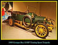 1909 Georges Roy 12-HP Touring Sport Torpedo (PictureJohn64) Tags: auto heritage classic roy car sport museum automobile driving traffic famous den transport hague collection commercial transportation historical torpedo haag georges touring collectie fahrzeug oto 1909 historisch verkeer vervoer klassiek  samochd beroemd gravenhage otomobil louwman automobiel worldcars 12hp  automoviel klassiesch