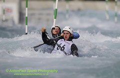 Matt Holliday & Matt Evans in action during the Canoe Double com (ActPact) Tags: uk greatbritain england london sports pool muscles grit holding energy whitewater europe britishisles champion canoe rapids h international manmade strong strength pointing endurance stress goldmedal tense westerneurope scoring courage individual wellness worldrecord healthiness physicalfitness britishsquad