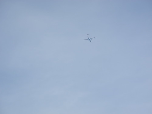 Dash 8 Crossing Above