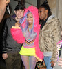 Nicki Minaj leaving the Kiss 100 radio studios. London, England