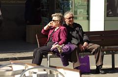 Portrait (Natali Antonovich) Tags: barcelona portrait sunglasses glasses spain couple pair relaxation reverie barcelonaspain sunnybarcelona