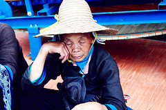 Dozing Off (Katie Li ) Tags: old school grandma sleeping summer cute canon countryside village sleep culture farmer wrinkles cultural dozing