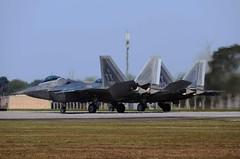 Heat of the moment (crusader752) Tags: fighter jet raptor f22 usaf jetfighter usairforce lockheedmartin 95fs raflakenheath 054095ty 054084ty
