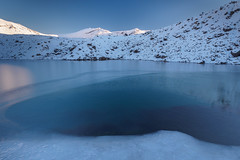 The Deep End (blue polaris) Tags: park new winter lake snow ice landscape volcano frozen crossing zealand alpine national crater tongariro emerald