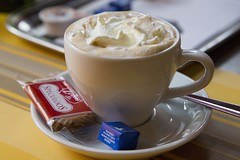 Erasmus, Cappuccino (Bill in DC) Tags: food coffee erasmus belgium brugge restaurants bruges cappuccino 2013 eos5d3 canoneos5dmarkiii