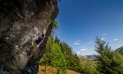 DSC_6245-2 (Fras333) Tags: rock climb countryside perthshire climbing rockclimbing strathyre schist sportclimb