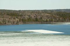 alien landing strip in Canada (useless no more) Tags: canada ice houseboat nwt arctic northern iceflow yellowknife subarctic yellowknifebay canadasnorth scottlough