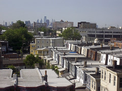 Roof Lines (MTSOfan) Tags: street city houses urban philadelphia skyline centercity snapshot ps roofs pointandshoot viewsouth fromtempleuniversityhospital