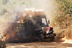 Smokey transport, Kalaw village trek (malithewildcat) Tags: trek burma myanmar hillstation kalaw hillvillage smokeytruck