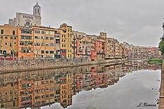 Reflections / ter river / Girona (J.J.Carmona) Tags: urban ro canon reflections river spain paisaje catalonia girona urbano hdr reflejos