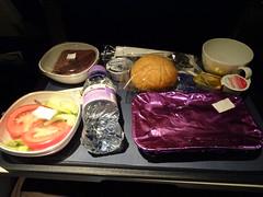 Evening meal (stevenbrandist) Tags: travel food flight meal tray britishairways boeing747 travelogue