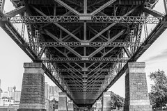 Looking for Trolls (Scottmh) Tags: bridge winter white black june nikon harbour steel under sydney australia frame pylons 2016 d7100