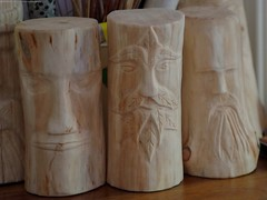 the green man log carving (Simon Dell Photography) Tags: wood log carving diy how hand made simon dell carver artist first try