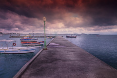 Manguinhos - Buzios - Brazil (max tuta noronha) Tags: sky praia clouds pier boat mar cue outdoor turtles nuvens ceu tartarugas