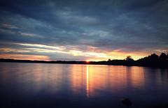 Abendrot am Steinberger See (evibaumann) Tags: sonnenuntergang himmel wolken stimmung abendrot wolkenhimmel