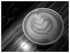 when Tuesday is Monday... (ekelly80) Tags: blackandwhite bw art coffee washingtondc dc foam dcist cappuccino yola dupontcircle coffeeart welovedc february2012
