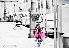 Go Pink! (Tinina67) Tags: life pink france colour smile bike hope joy happiness awareness fahrrad selective auch tinina67