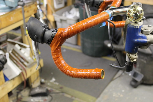 shellacking the handlebar wrap