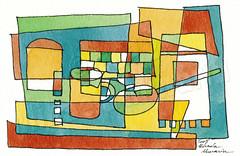 GEOMETRIC_006 (La Boutique de Micha) Tags: moderne acrylique abstrait cartepostale contemporain artpostal encreaquarelle