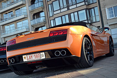 Italian Orange. (NickV. Photography) Tags: car nikon automotive exotic vehicle lamborghini supercar lamborghinigallardo automotivephotography gallardospyder lamborghinigallardospyder lamborghinispyder worldcars lamborghinigallardolp5604 lamborghinigallardolp5604spyder d3100 nikond3100 zoutegrandprix gallardolp560spyder zoutegp