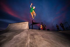 Ryan McWhirter backside kicker into the epic sunset (candersonclick) Tags: california pool nikon skateboarding skateboard skateboards 2012 antihero nikond700