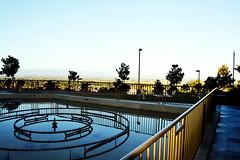 beautiful fountain (manjinder_kaur) Tags: city blue sky india beautiful yellow architecture america religious san hose sikh sahib gurdwara punjabi waheguru singh simran kaur smagam gurughar mkaurphotography