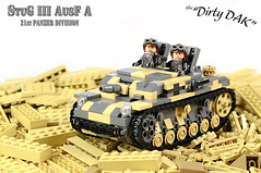 Dirty DAK, ready for the attack (Florida Shoooter) Tags: germany tank lego ww2 afv assaultgun sdkfz142 stugiiiausfa